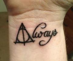 Harry Potter tattoo: Always :)