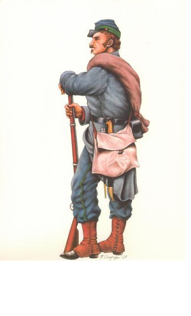 Volontario dei 'Cacciatori delle Alpi'  2a Guerra d'Indipendenza Nazionale, 1859