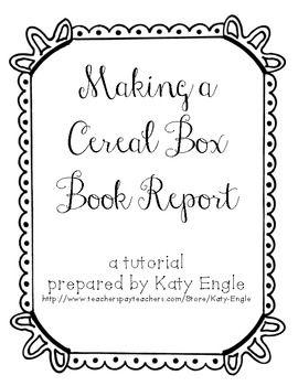 Cereal Box Book Report Tutorial