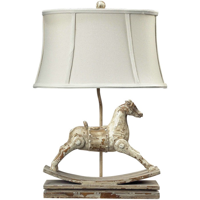 Pottery Barn Horse Bit Lamp: Rocking Horse Lamp