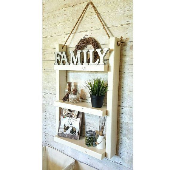 This rope shelf is great for above the toilet, decoration for walls, or could……   – most beautiful shelves