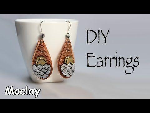 (7) DIY metal earrings. Polymer clay tutorial - YouTube