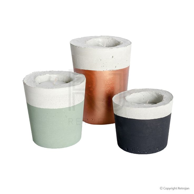 Candle Trios - Bronze, Black, Olive   | $54.95