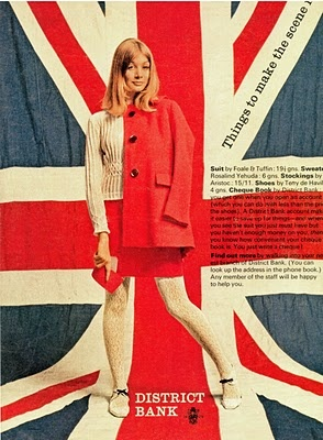 Vintage Poster - 1960's Tuffin & Foale advertisement - Union Jack - English - London