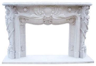 The Versailles Fireplace - Mediterranean - Fireplace Mantels - Other Metro - DeSantana Stone Company