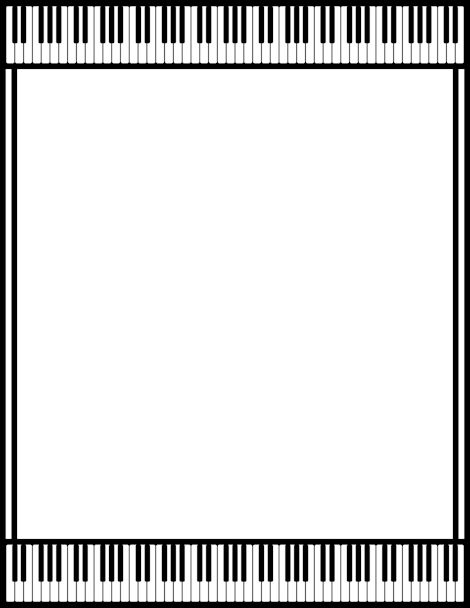 A piano page border. Free downloads at…