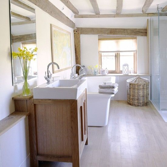 White country bathroom - love the clean lines, simple look