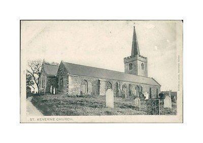 ST-KEVERNE-Church-Postcard-nr-Falmouth-Penryn-CORNWALL-Peacock-Brand