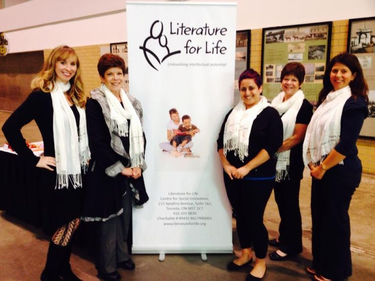 Literature for Life spreading the word at the Chloe Woman's Show - books change lives!