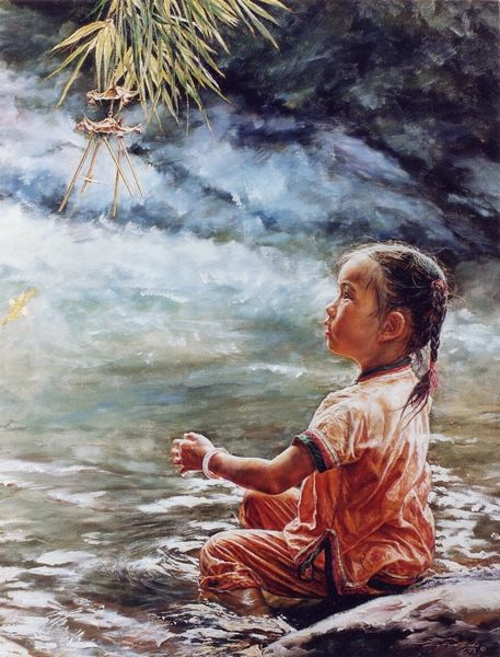 ARTIST WAI MING - Asian Oriental Chinese Fine Art Artwork Paintings Catalog (title: Wind Chime #2)