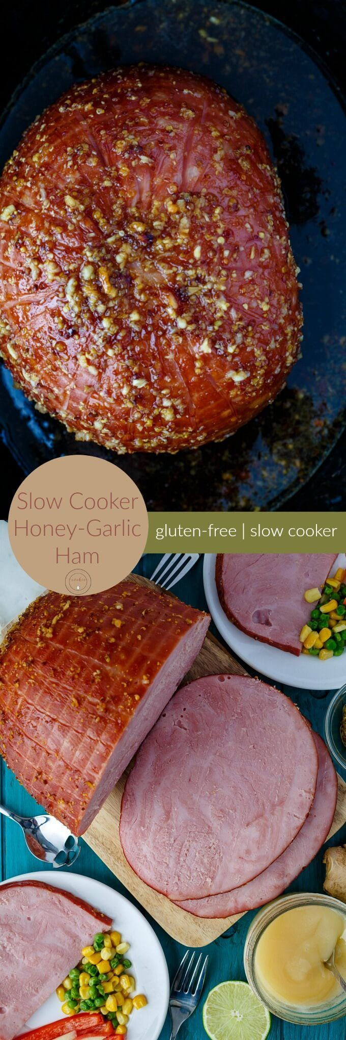 Slow Cooker Honey-Garlic Ham | Super easy weeknight meal that yields a ton of leftovers!