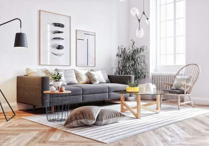 ▷ 1001 + ideas sobre decoración salón gris y blanco | For ...
