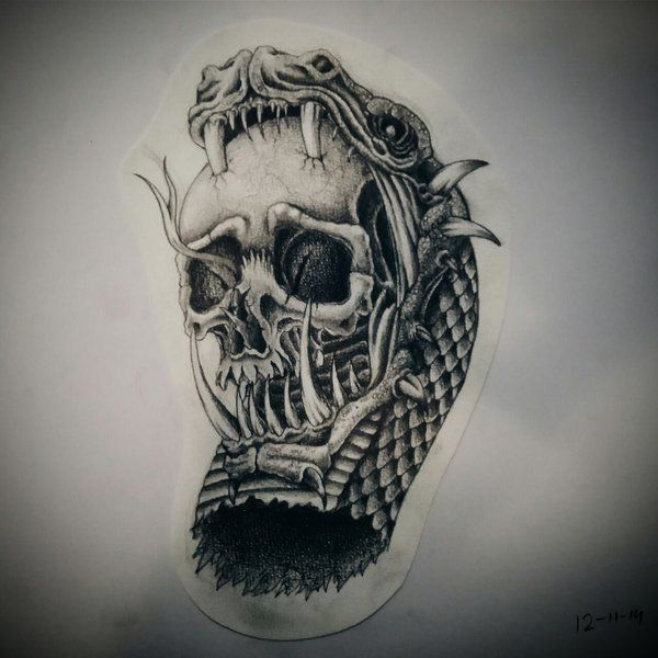 Japanese Skull Tattoo Design By Fantasysnake14 On Deviantart: 46 Best Images About Tattoo Designs & Drawings On