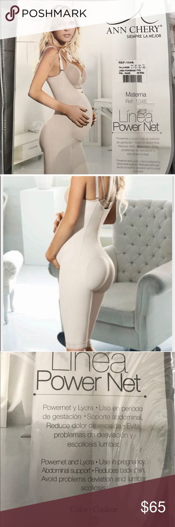 Ann Chery Colombian Maternity garment This garment is used to help support your abdomen during pregnancy. It helps reduce back pain caused by pregnancymanufacturers size chart is posted.                  Prices are firm on ALL Ann Chery garments unless bundle or you're a return Posher.                                                      ✳️20% OFF bundles of 2 or more items                                             No Trades. ♀️Free Belladonna waist trainer with purchase to use after…