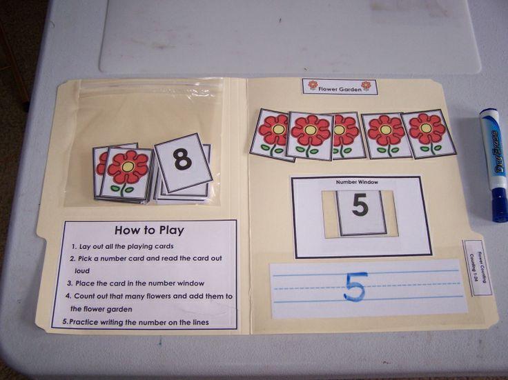math worksheet : 118 best file folder games images on pinterest  file folder games  : Kindergarten Math File Folder Games