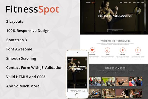 I just released FitnessSpot - One Page HTML Template on Creative Market.