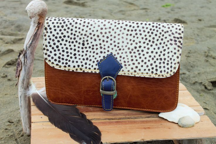 Leather and Printed (real) Fur Purse by ShivaShack on Etsy