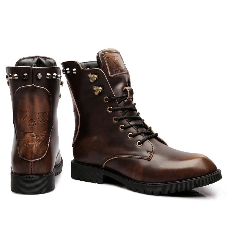 2016 New Genuine Leather Western Cowboy Boots For Men's Size(6.5-10) Mou Tims Lita Boots Mid-Calf Oxfords Men Shoes Freeshipping#tims boots