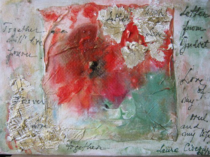 Letter from Julliet  mixt art 18X 24 cm Copyright © Laura - Simona Ciocoiu