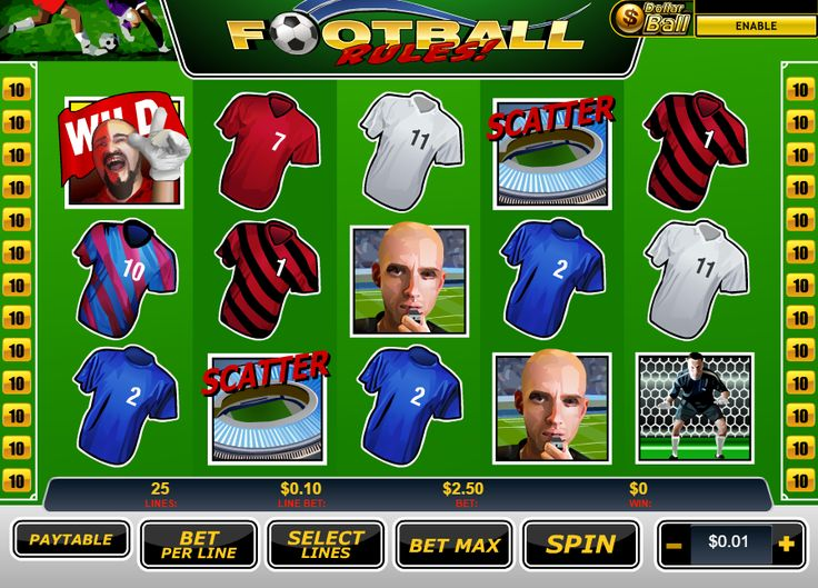 #Football Rules #Slots - Free Online Slots by #Playech http://www.gamesandcasino.com/casino-games/football-rules-slots.htm
