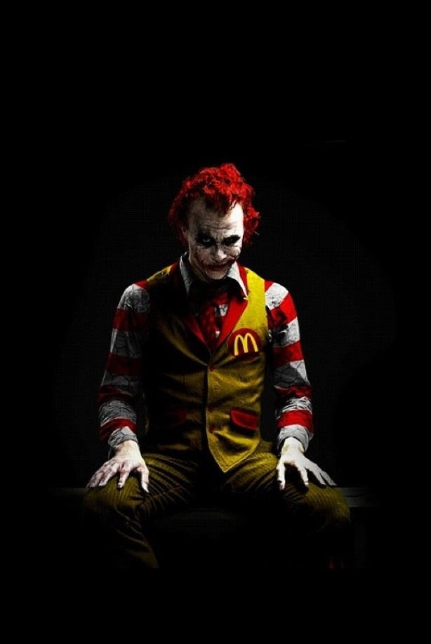 Ronald McDonald + The Joker = How a kid sees it.