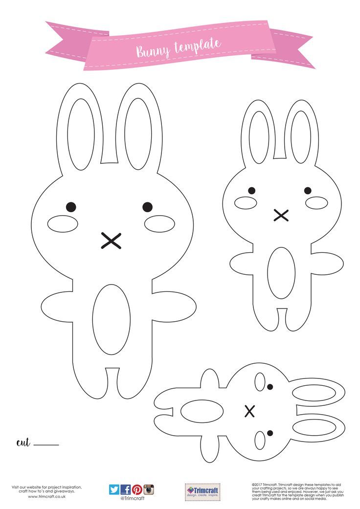1084 best felt images on pinterest felt crafts felt puppets and diy dovecraft felt bunny hoop with free printable template pronofoot35fo Image collections