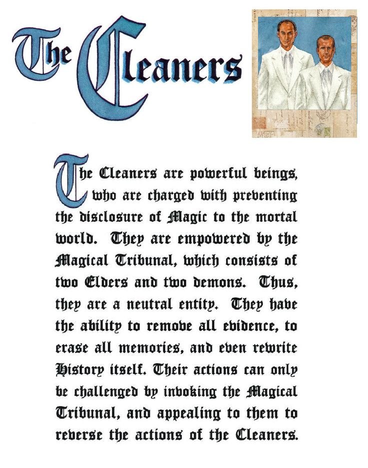 Charmed Series Book of Shadows: The Cleaners » Metaphysic Study