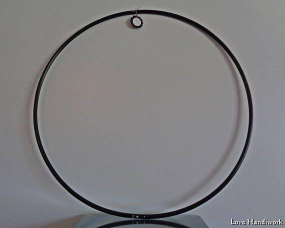 30 Black 5/8 O.D. Recycled Polypro Hula Hoop