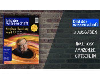"""""""Bild der Wissenschaft"""": 13 Ausgaben für zusammen 4,20 Euro dank Amazon-Gutschein https://www.discountfan.de/artikel/lesen_und_probe-abos/bild-der-wissenschaft-13-ausgaben-fuer-zusammen-420-euro-dank-amazon-gutschein.php Die renommierte Zeitschrift """"Bild der Wissenschaft"""" ist jetzt im Jahresabo zum Schnäppchenpreis von nur 4,20 Euro zu haben. Möglich macht dies ein Amazon-Gutschein über 105 Euro. """"Bild der Wissenschaft"""": 13 Ausgaben für zusammen"""
