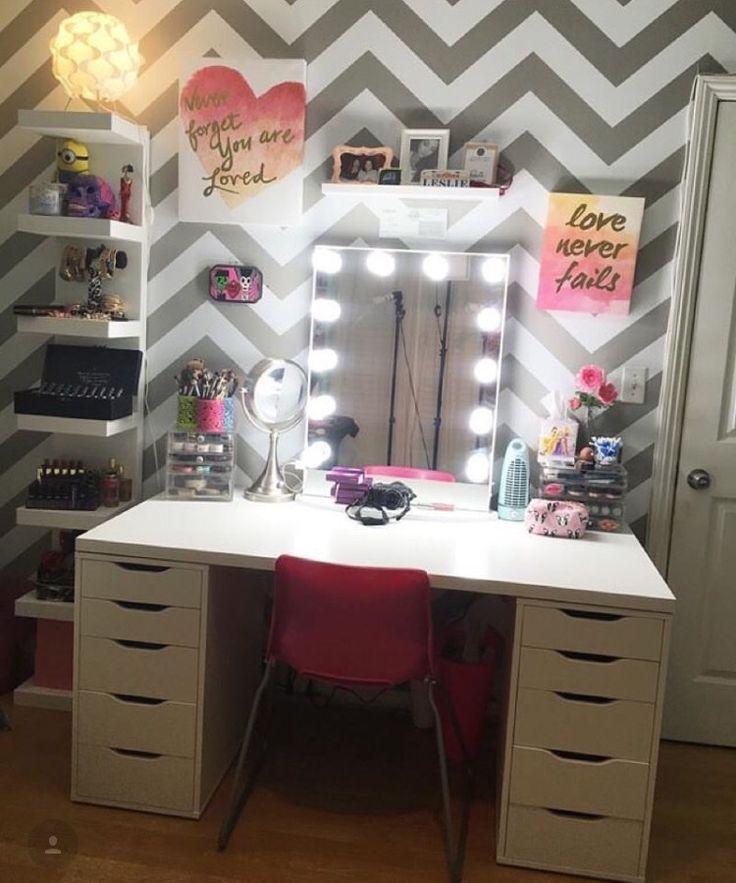 Vanity And Makeup Storage Ideas