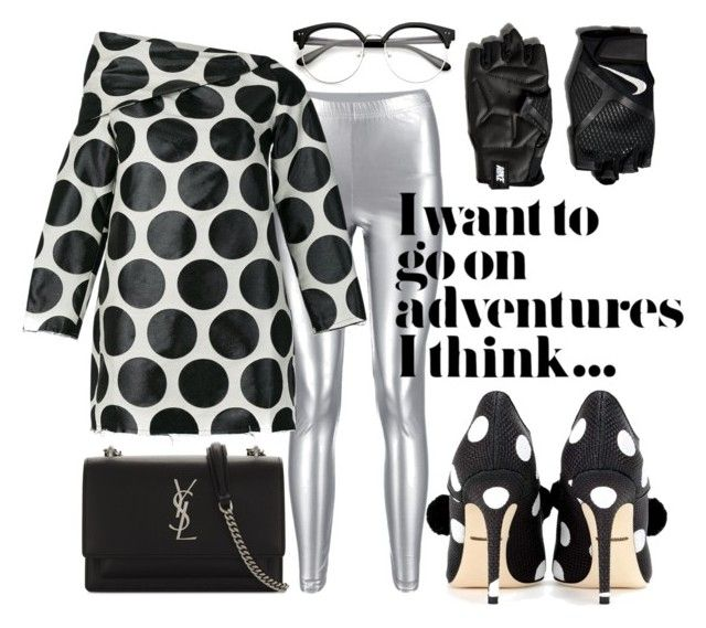 Black and white by illetilmote on Polyvore featuring Marques'Almeida, Dolce&Gabbana, Yves Saint Laurent and NIKE