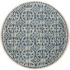 Cambridge Navy Blue/Ivory 10 ft. x 10 ft. Round Area Rug