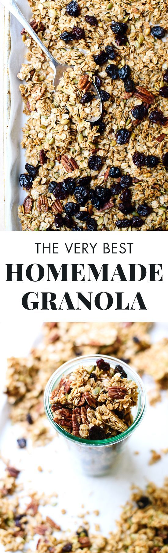 This healthy granola recipe is SO delicious! Find the recipe, plus tips on making it your own, at http://cookieandkate.com