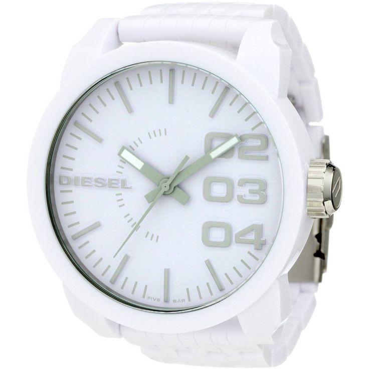 Diesel DZ1461 Men's White Plastic White Dial Quartz Oversized Watch
