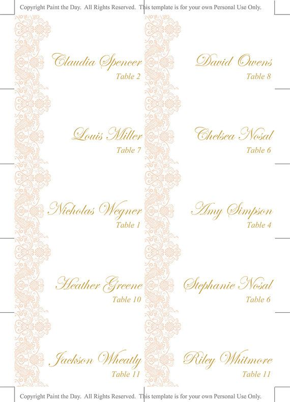 Best AnnieRob Cards Images On Pinterest Annie Card Patterns - Reserved place card template