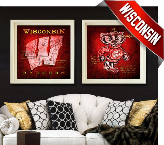 Wisconsin Badgers  Map Set  Featuring Fight Song On by RetroLeague