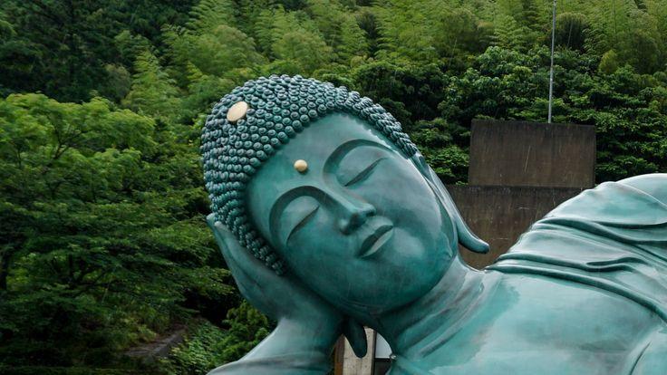 Head Reclining Buddha Nanzoin Temple Fukuoka