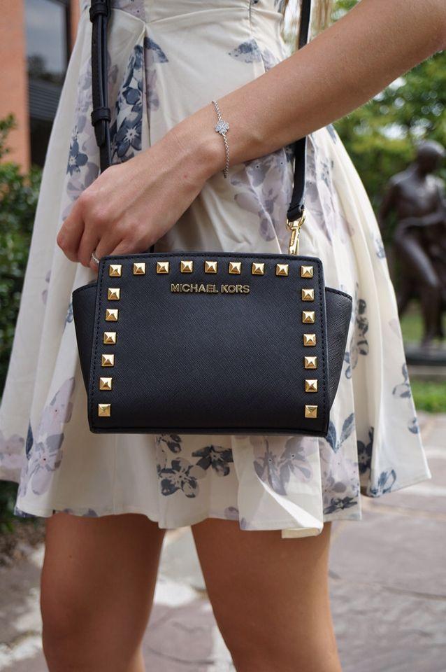 2ae48761bb54 Michael Kors Selma Stud Mini Messenger | Handbags | Michael kors selma,  Bags, Handbags michael kors