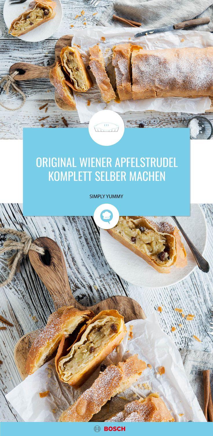 Warmer Apfelstrudel mit Vanillesoße. Knusprig, süß und delikat im Geschmack   – Alle Rezepte von SIMPLY YUMMY
