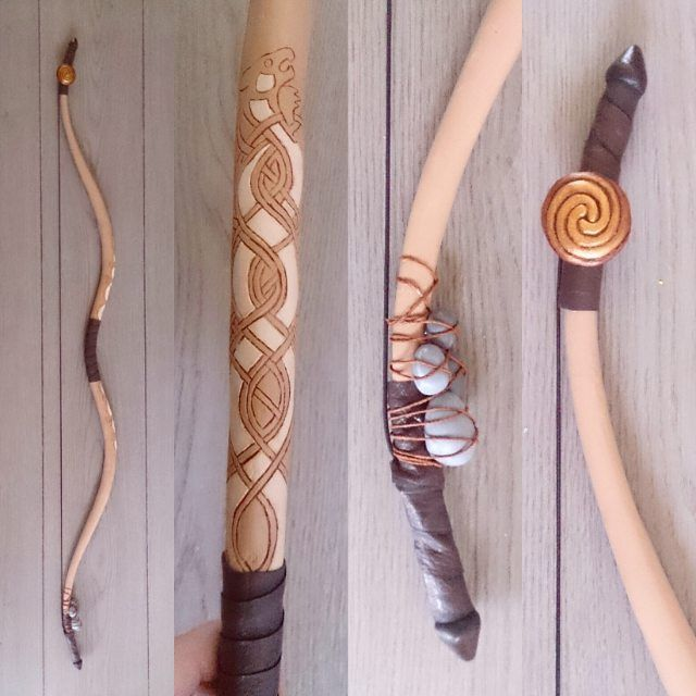 Finished my bow! Now just the arrows I gotta finish. #Merida #Pixar #Disney…