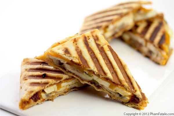 panini sandwich recipes   Roasted Chicken and Apple Panini Sandwich Recipe - Pham Fatale