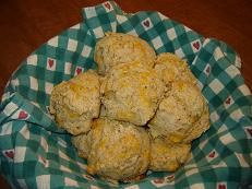 Whole-Wheat Cheddar-Herbed Biscuits | Food to Try | Pinterest