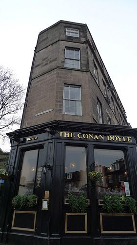 The Conan Doyle pub In Edinburgh, Scotland is located close to Picardy Place, where the pub's namesake, the great author Sir Arthur Conan Doyle, was born on 22nd May 1859. Today, an over life -sized bronze statue of Conan Doyle's greatest creation, Sherlock Holmes, stands opposite his birthplace. The most famous fictional detective is portrayed in meditation on the death of his author. This is a rare gem of a pub and one of my favourite stops when in Edinburgh. Photo: flickr.com/photos/nonky