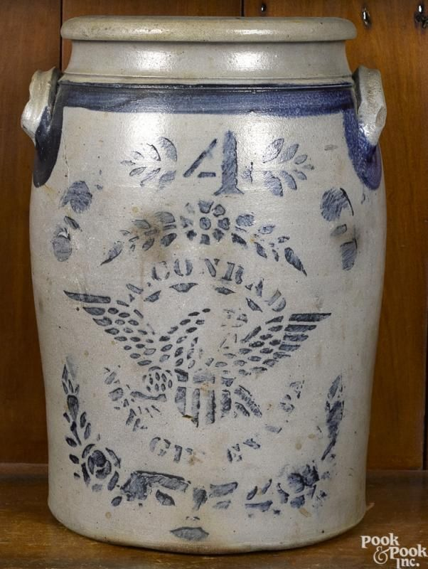 Western Pennsylvania four gallon stoneware crock - Price Estimate: $300 - $500
