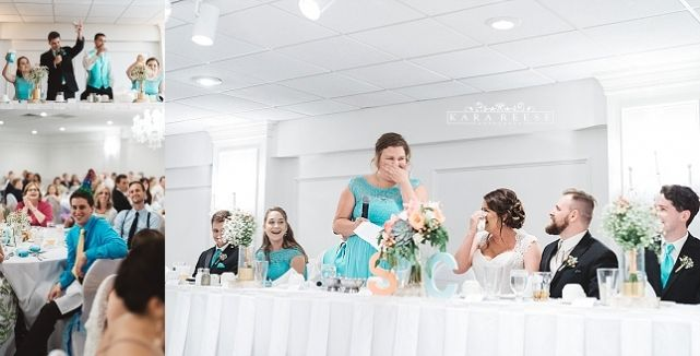 maid of honor and best man speeches at reception