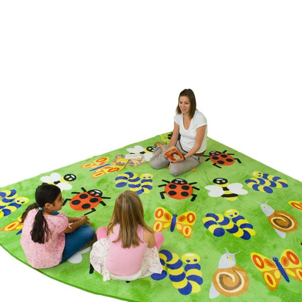 "Back to Nature Bug Corner Rug - 9' 10""W x 9' 10""L at SCHOOLSin"