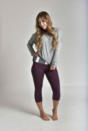 The Aubrey in Eggplant - Strut-This | Dress Up Your Workout - Fashionable Workout Clothing
