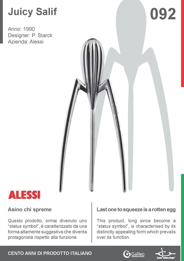Juicy Salif by Philippe Starck for Alessi (1990) #juicer #design