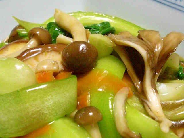 チンゲン菜ときのこのオイスターソースの画像