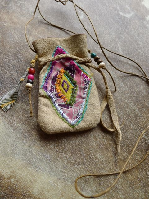 Rainbow Healing Power Medicine Bag/ Pouch/ Tribal/ by Temple33